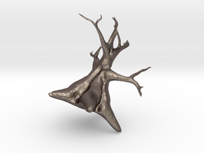 Tree in Polished Bronzed Silver Steel