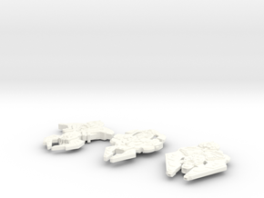 Cardassian 3-Pack in White Strong & Flexible Polished