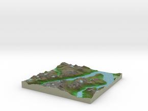 Terrafab generated model Sat Sep 28 2013 16:14:28  in Full Color Sandstone
