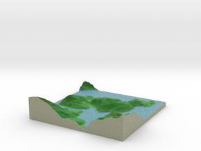 Terrafab generated model Fri Sep 27 2013 18:14:36  in Full Color Sandstone