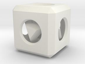 Dice 2-in-1 in White Natural Versatile Plastic