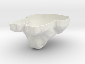 Customizable Sphynx Mold in White Natural Versatile Plastic