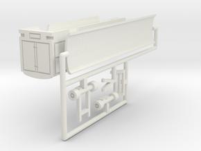 Transport Tonnendachwagen 12 m - 1:220 (z scale) in White Natural Versatile Plastic