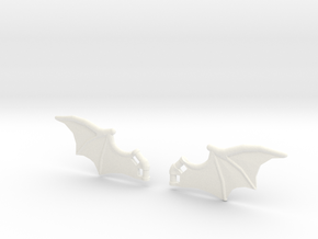 Dragon-Wings in White Processed Versatile Plastic