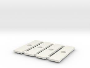Fahrgestell-Verbindungsklipse für Halberstädter in White Strong & Flexible