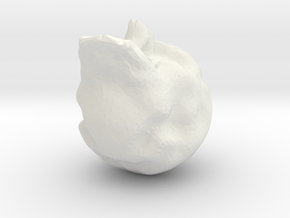 face 007 in White Natural Versatile Plastic