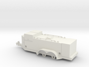 1/64 Fuel Trailer (S Scale) in White Strong & Flexible
