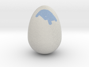 My Egg (Created in Magic 3D Easter Egg Painter) in Full Color Sandstone