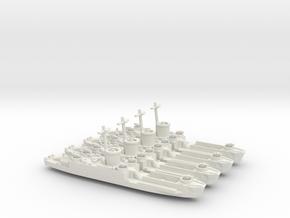 4 Off LCI(L) Late Forward Gun Tub 1/700 Scale in White Natural Versatile Plastic