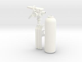 1:7 Scale 33mm Bottle Extinguisher in White Processed Versatile Plastic