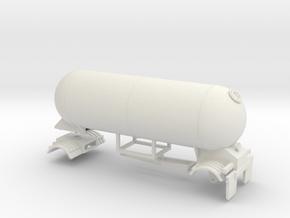 S-scale 1/64 Trailer 15, Calf single axle in White Natural Versatile Plastic