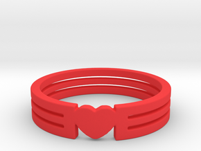 Heart Ring Size 5.5 in Red Strong & Flexible Polished