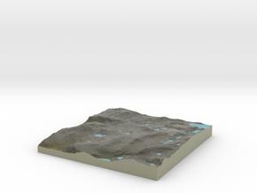 Terrafab generated model Mon Sep 30 2013 22:13:07  in Full Color Sandstone