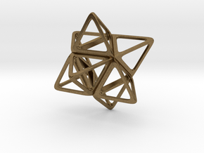 Merkaba Flatbase R1 - 4cm in Natural Bronze