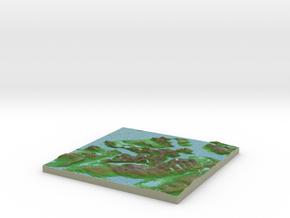 Terrafab generated model Sun Oct 06 2013 12:29:39  in Full Color Sandstone