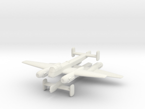 1/300 Arado Ar 240 (x2) in White Natural Versatile Plastic