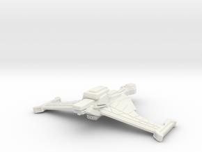 Klingon Battle Bird in White Natural Versatile Plastic