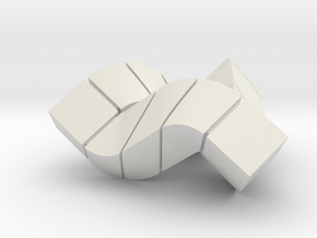 Impossible Triangle, Cubed & Compact in White Natural Versatile Plastic
