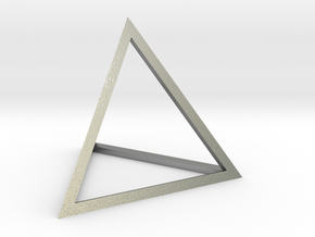 """Tetrahedron 1.75"""" in Natural Silver"""