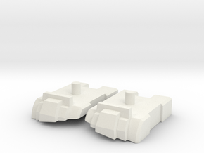 Feet set for Kabaya set 7 Menasor in White Natural Versatile Plastic