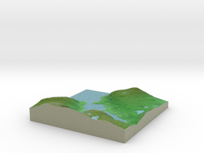 Terrafab generated model Wed Oct 09 2013 18:06:00  in Full Color Sandstone