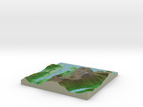Terrafab generated model Thu Oct 10 2013 10:33:48  in Full Color Sandstone