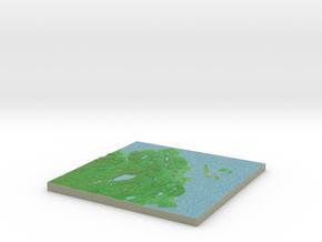 Terrafab generated model Fri Oct 11 2013 20:37:57  in Full Color Sandstone