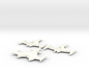 3 Klingon Bashes in White Processed Versatile Plastic