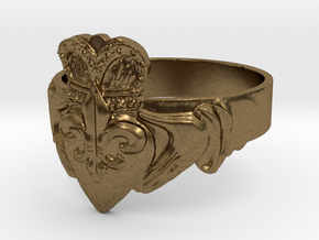 NOLA Claddagh, Ring Size 12 in Natural Bronze
