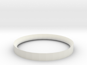 Simple Ring 5 34 in White Natural Versatile Plastic