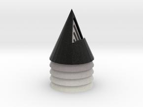 zz - Cone 3.5in Asst Grays 5-up in Full Color Sandstone