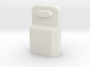 XT60 connector safety cap in White Natural Versatile Plastic