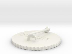 by kelecrea, engraved: bubun in White Natural Versatile Plastic