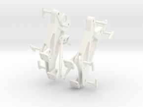 Spare Side Plate Assembly in White Strong & Flexible Polished
