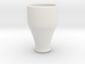 pink cap cup 3 in White Natural Versatile Plastic