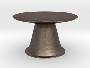 hera  bird bath in Polished Bronzed Silver Steel