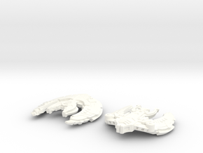 Ferengi Ship (Smaller) in White Strong & Flexible Polished