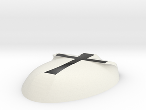 Cross Mask in White Natural Versatile Plastic