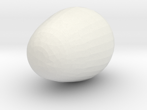 Paint & Print Your Easter Egg! in White Natural Versatile Plastic