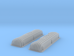 1 16 409 Finned Logo Valve Covers File in Smooth Fine Detail Plastic