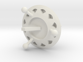 SpaCeShip1 in White Natural Versatile Plastic