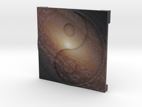 Spiral Galaxy over Ying Yang in Full Color Sandstone