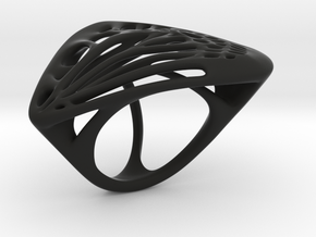 Butterfly Ring [ Size 7 ] in Black Natural Versatile Plastic