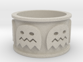 Pac-man inspired Ring Size 10 in Natural Sandstone