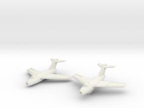 Lavochkin La-15 Fantail (2 planes set) 1/285 6mm in White Natural Versatile Plastic