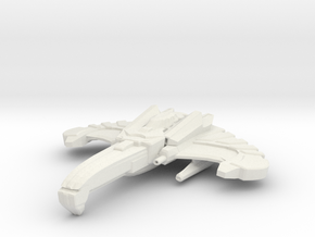 Scourge Class B Destroyer in White Natural Versatile Plastic