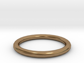 Shiny Bronze ring in Natural Brass