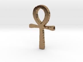 Ankh in Natural Brass