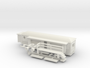 Wohnwagen rundes Dach - 1:160 (n scale) in White Strong & Flexible