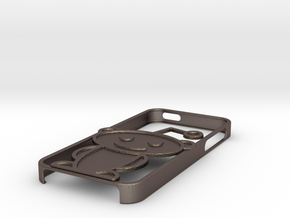 Alien iPhone 5 case in Polished Bronzed Silver Steel